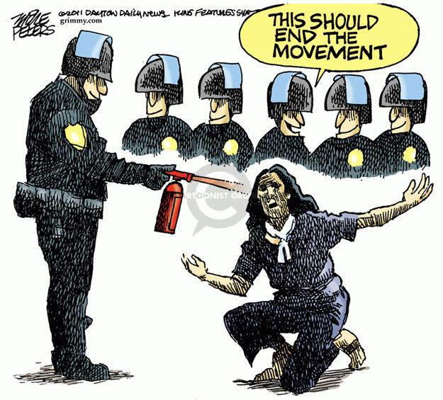 Cartoonist Mike Peters  Mike Peters' Editorial Cartoons 2011-11-23 police