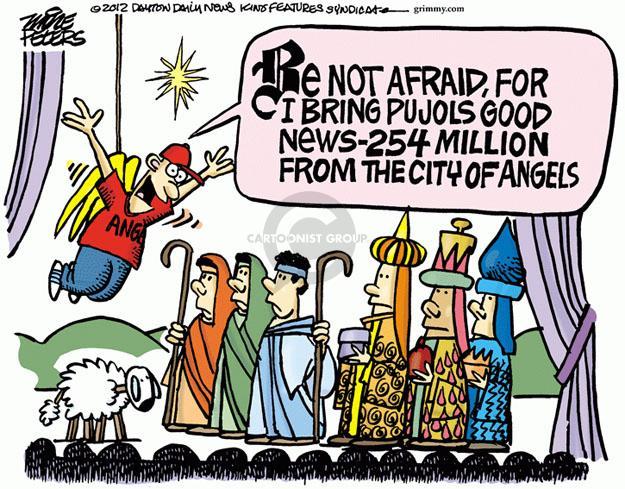 Cartoonist Mike Peters  Mike Peters' Editorial Cartoons 2011-12-09 afraid