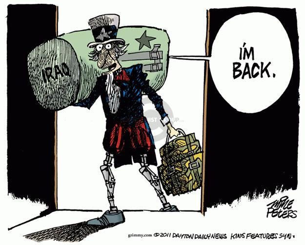 Cartoonist Mike Peters  Mike Peters' Editorial Cartoons 2011-12-15 soldier