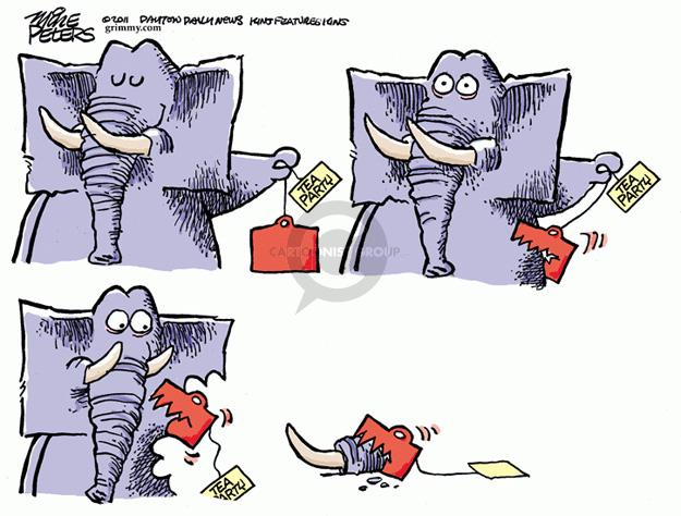 Cartoonist Mike Peters  Mike Peters' Editorial Cartoons 2011-12-29 republican party