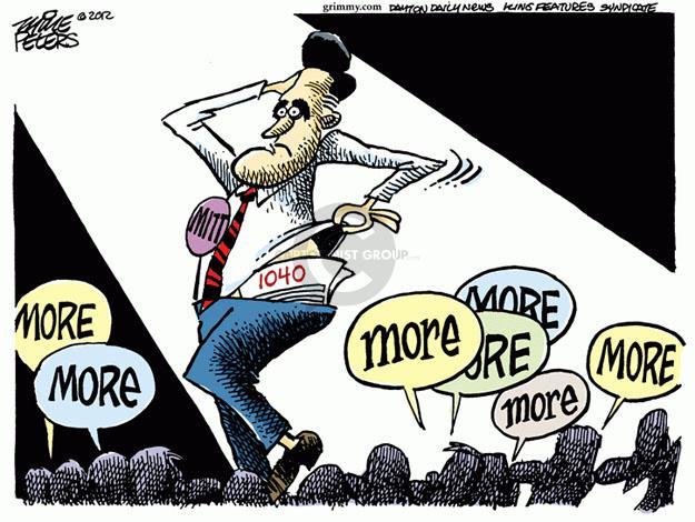 Cartoonist Mike Peters  Mike Peters' Editorial Cartoons 2012-01-18 tax