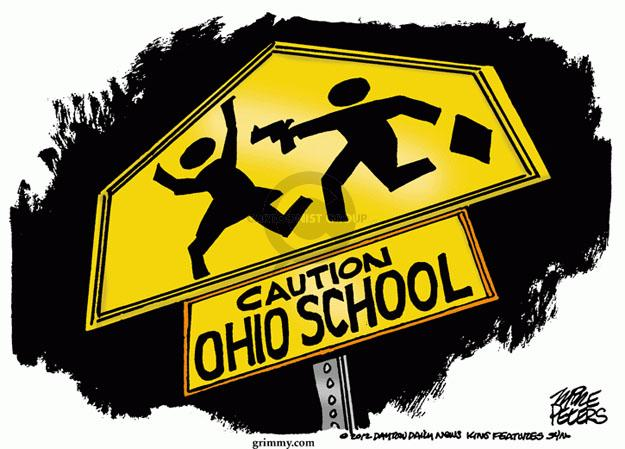 Caution. Ohio school.