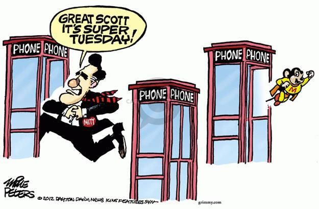 Cartoonist Mike Peters  Mike Peters' Editorial Cartoons 2012-03-07 Scott