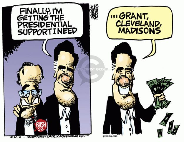 Mike Peters  Mike Peters' Editorial Cartoons 2012-04-12 2012 election endorsement