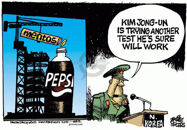 Cartoonist Mike Peters  Mike Peters' Editorial Cartoons 2012-04-13 Kim