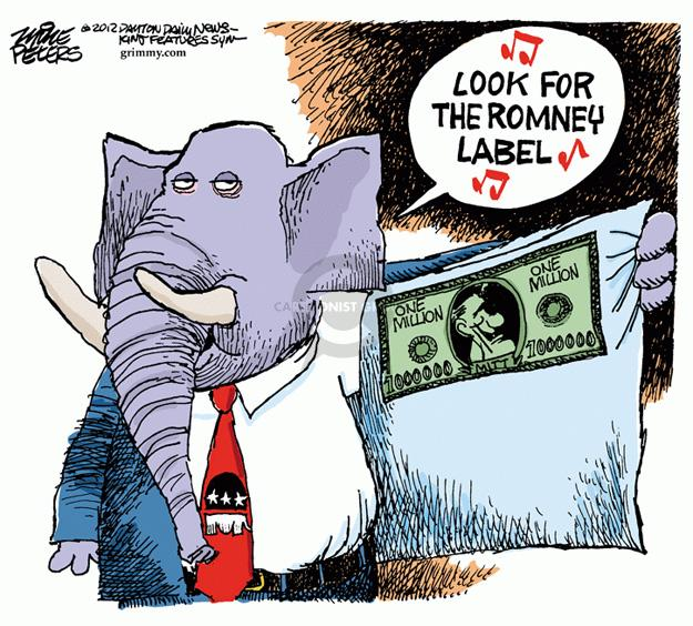 Look for the Romney label.  One Million.  One Million.