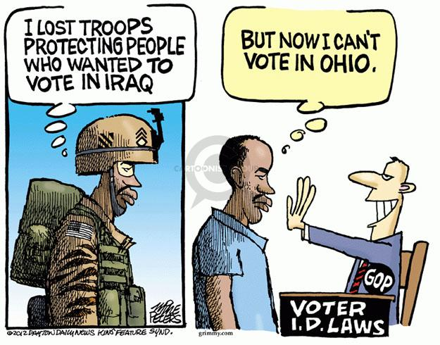 Mike Peters  Mike Peters' Editorial Cartoons 2012-06-27 voting rights