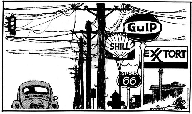 Mike Peters  Mike Peters' Editorial Cartoons 1980-01-01 automobile energy