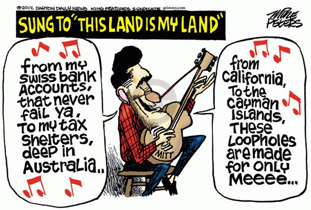 Mike Peters  Mike Peters' Editorial Cartoons 2012-07-11 tax