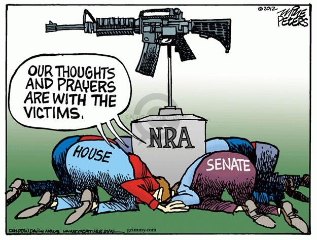 Cartoonist Mike Peters  Mike Peters' Editorial Cartoons 2012-07-21 gun violence