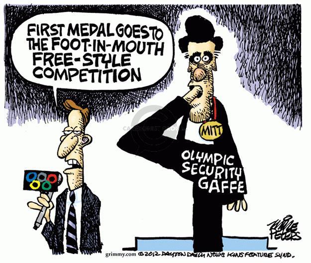 Cartoonist Mike Peters  Mike Peters' Editorial Cartoons 2012-07-26 England