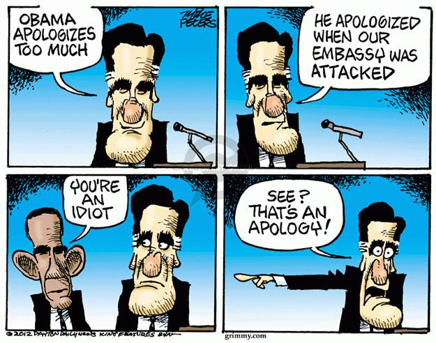 Cartoonist Mike Peters  Mike Peters' Editorial Cartoons 2012-09-13 election