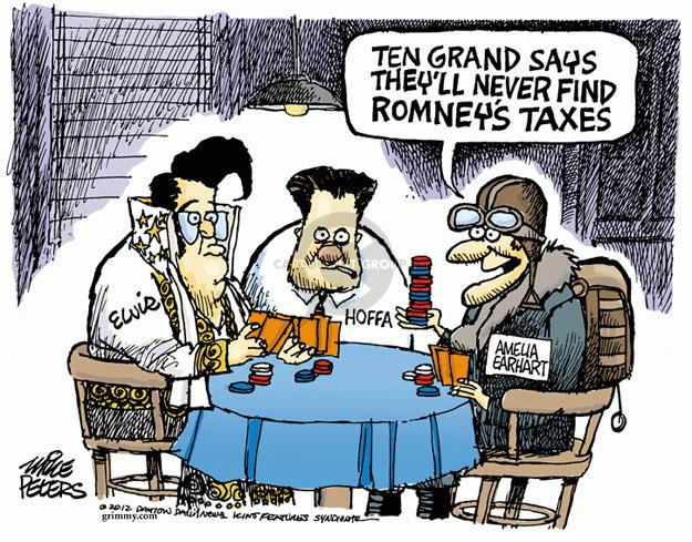Cartoonist Mike Peters  Mike Peters' Editorial Cartoons 2012-09-28 Mitt Romney
