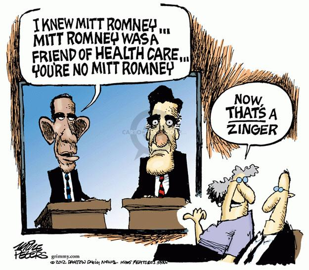 Cartoonist Mike Peters  Mike Peters' Editorial Cartoons 2012-10-02 health care reform