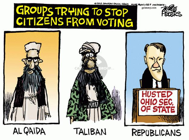 Mike Peters  Mike Peters' Editorial Cartoons 2012-10-10 voting rights