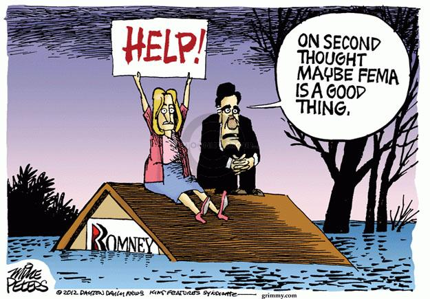 Cartoonist Mike Peters  Mike Peters' Editorial Cartoons 2012-11-01 Mitt Romney