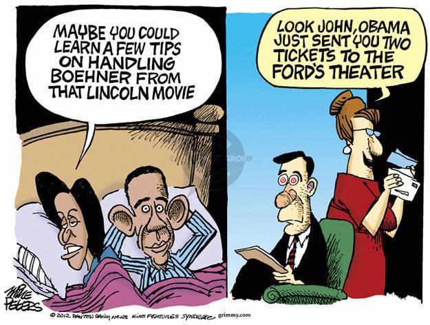 Cartoonist Mike Peters  Mike Peters' Editorial Cartoons 2012-11-29 movie theater