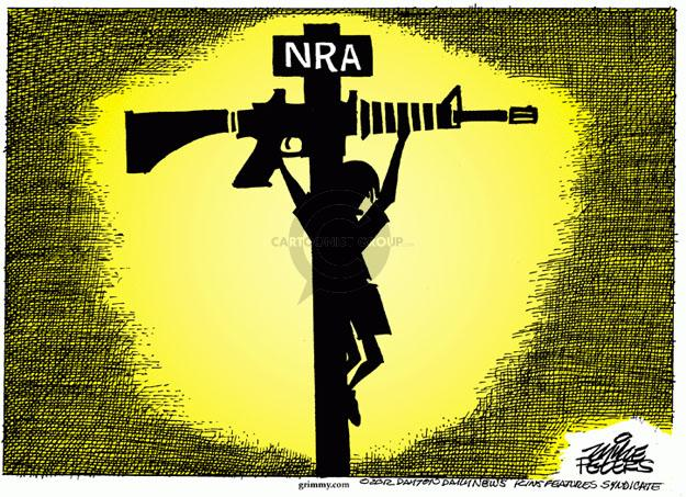 Cartoonist Mike Peters  Mike Peters' Editorial Cartoons 2012-12-17 gun violence
