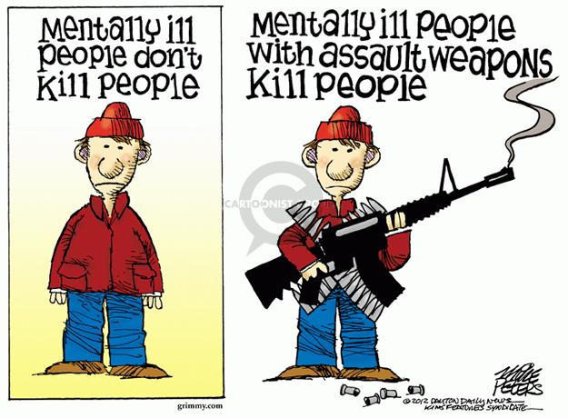 Cartoonist Mike Peters  Mike Peters' Editorial Cartoons 2012-12-19 gun violence