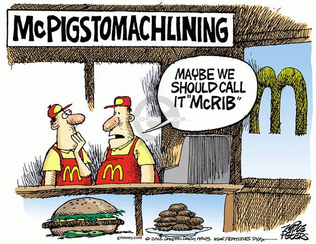 Mike Peters  Mike Peters' Editorial Cartoons 2012-12-27 junk food