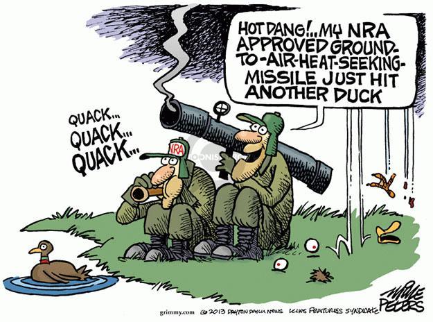 Cartoonist Mike Peters  Mike Peters' Editorial Cartoons 2013-01-23 violent