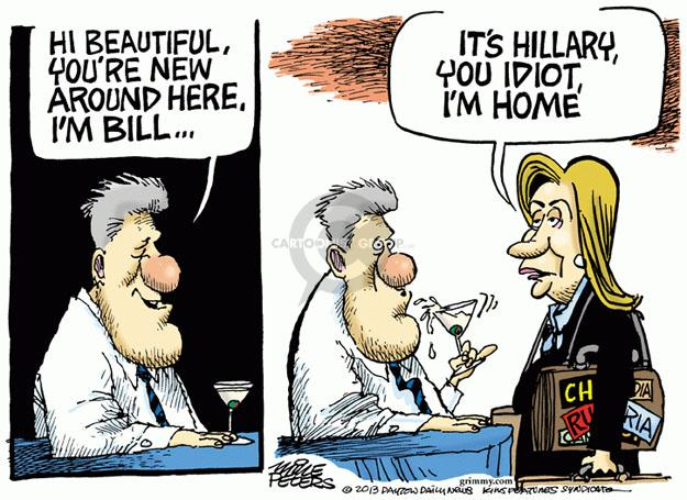 Cartoonist Mike Peters  Mike Peters' Editorial Cartoons 2013-02-01 Bill Clinton