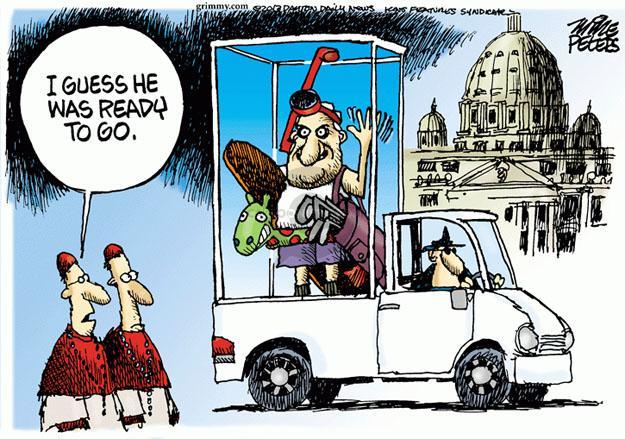 Cartoonist Mike Peters  Mike Peters' Editorial Cartoons 2013-03-01 retirement