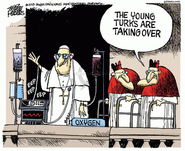 Mike Peters  Mike Peters' Editorial Cartoons 2013-03-15 pope