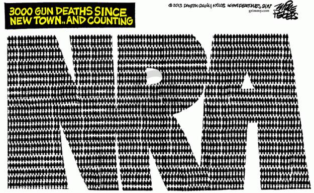 Cartoonist Mike Peters  Mike Peters' Editorial Cartoons 2013-03-29 gun violence