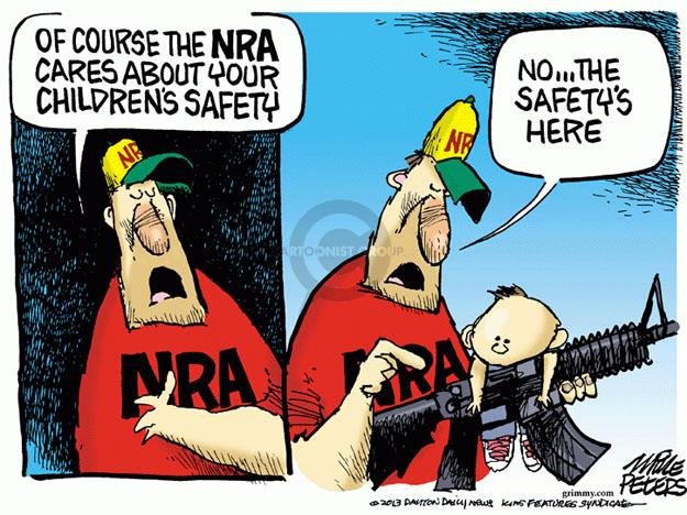 Cartoonist Mike Peters  Mike Peters' Editorial Cartoons 2013-04-10 gun violence