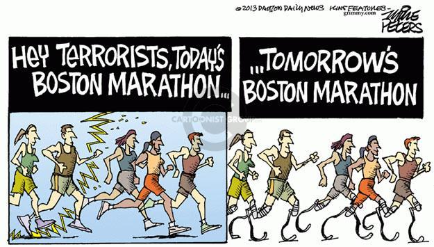 Cartoonist Mike Peters  Mike Peters' Editorial Cartoons 2013-04-17 Boston