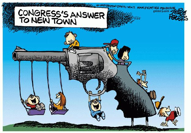 Cartoonist Mike Peters  Mike Peters' Editorial Cartoons 2013-04-18 assault weapon