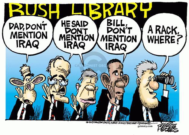 Cartoonist Mike Peters  Mike Peters' Editorial Cartoons 2013-04-24 Iraq war