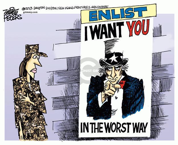 Cartoonist Mike Peters  Mike Peters' Editorial Cartoons 2013-06-06 defense