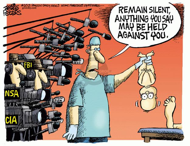 Cartoonist Mike Peters  Mike Peters' Editorial Cartoons 2013-06-07 security
