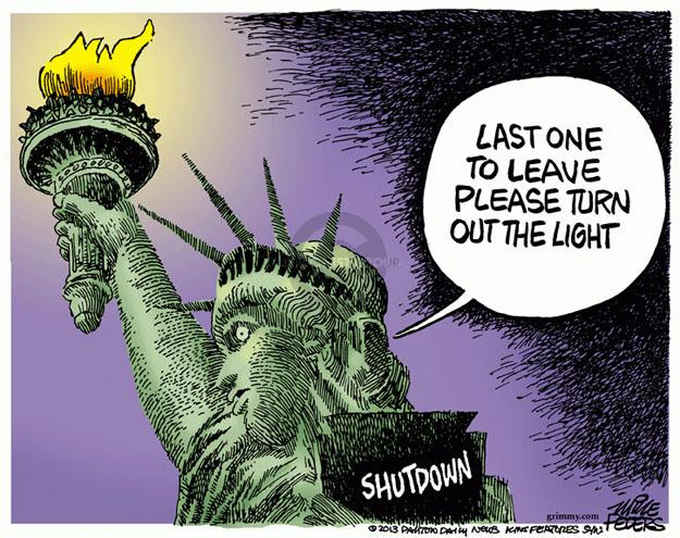 Cartoonist Mike Peters  Mike Peters' Editorial Cartoons 2013-09-27 Statue of Liberty
