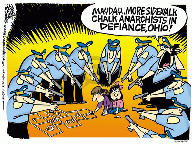 Cartoonist Mike Peters  Mike Peters' Editorial Cartoons 2013-10-25 police