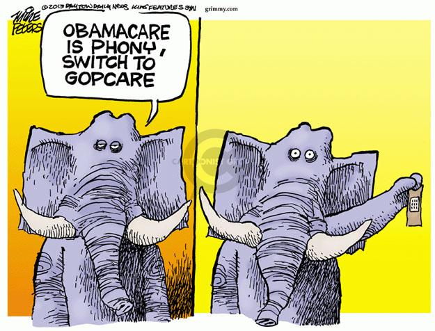 Cartoonist Mike Peters  Mike Peters' Editorial Cartoons 2013-11-15 Obama health care