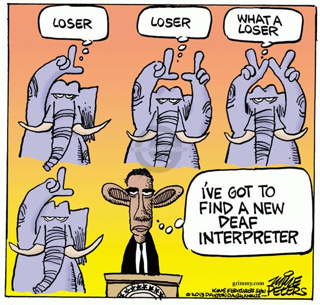Cartoonist Mike Peters  Mike Peters' Editorial Cartoons 2013-12-13 republican president