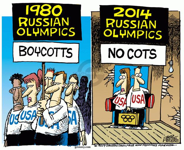 Mike Peters  Mike Peters' Editorial Cartoons 2014-02-06 summer Olympics