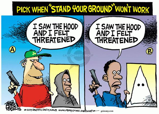 Cartoonist Mike Peters  Mike Peters' Editorial Cartoons 2014-02-20 gun rights