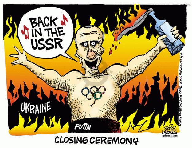 Cartoonist Mike Peters  Mike Peters' Editorial Cartoons 2014-02-21 winter Olympics