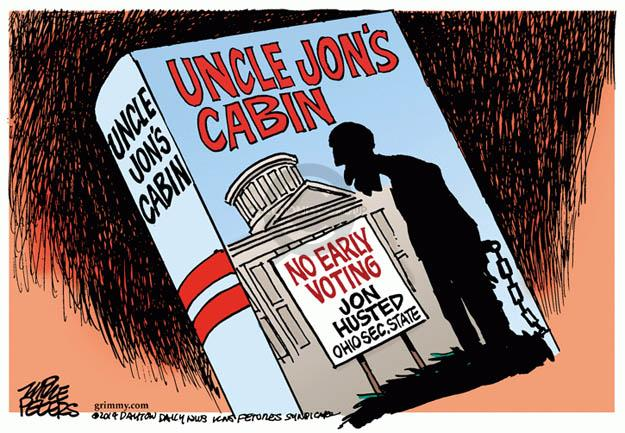 Mike Peters  Mike Peters' Editorial Cartoons 2014-02-26 voter suppression