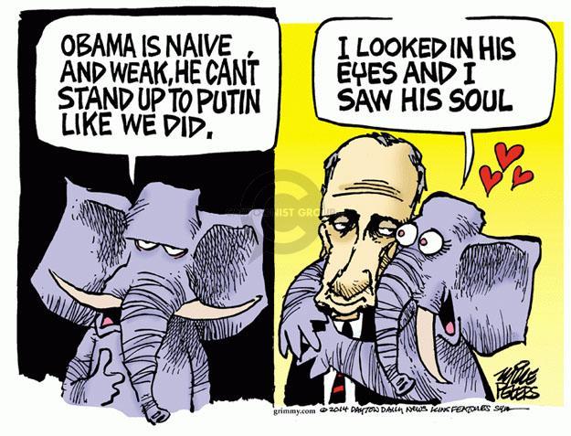 Cartoonist Mike Peters  Mike Peters' Editorial Cartoons 2014-03-05 George
