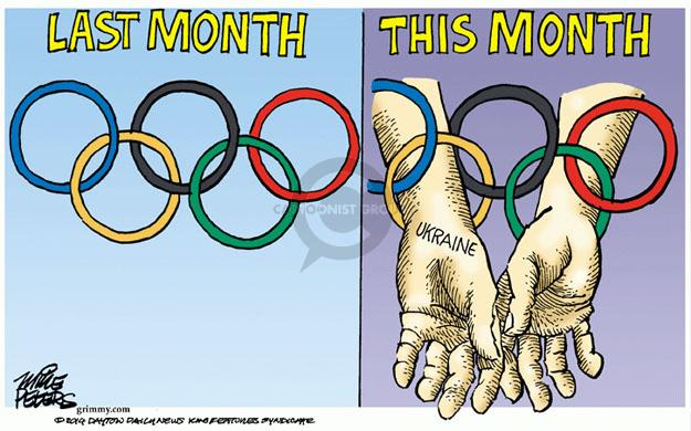 Cartoonist Mike Peters  Mike Peters' Editorial Cartoons 2014-03-06 winter Olympics