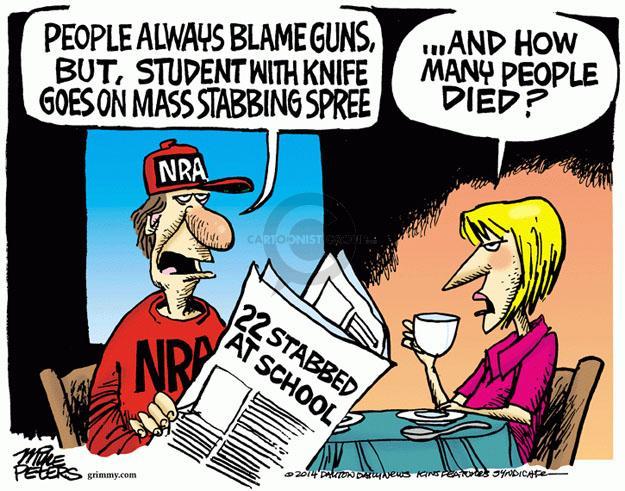 Cartoonist Mike Peters  Mike Peters' Editorial Cartoons 2014-04-10 survival