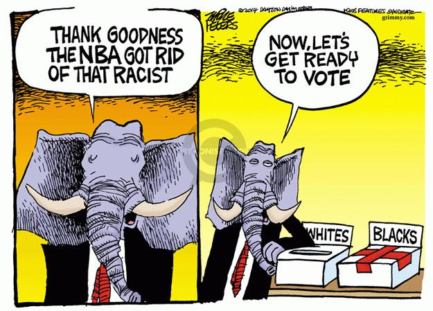 Mike Peters  Mike Peters' Editorial Cartoons 2014-05-01 NBA