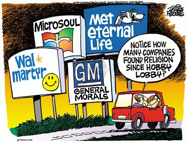 Mike Peters  Mike Peters' Editorial Cartoons 2014-07-03 corporate