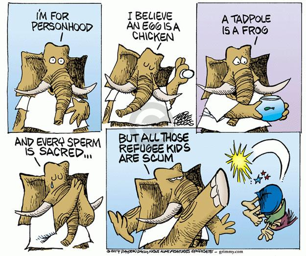 Cartoonist Mike Peters  Mike Peters' Editorial Cartoons 2014-07-10 immigration