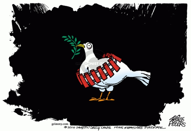 Cartoonist Mike Peters  Mike Peters' Editorial Cartoons 2014-08-07 international affairs